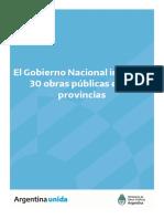 El gobierno nacional inaugura 30 obras públicas en 12 provincias
