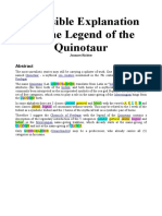 A Possible Explanation for the Legend of the Quinotaur