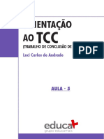 Orientacao e Trabalho de Conclusao de Curso (TCC) - Unidade 5