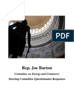 Rep. Joe Barton's Committee on Energy and Commerce