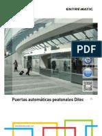 MANUAL PUERTAS AUTOMATICAS PEATONALES DITEC