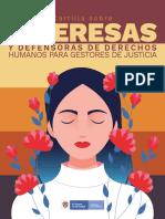 Cartilla lideresas y Defensoras de Derechos Humanos