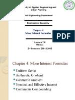 Chapter 4 More Interest Formulas