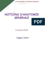JMN Notions d'anatomie générale 2020