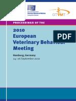 Proceedings-2010 europan veterinary behavior