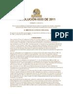 RESOLUCIÓN 0333 DE 2011 etiquetado febero 2011