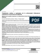 Tratamiento médico y quirúrgico de la enfermedad inflamatoria intestinal en la provincia de Albacete.