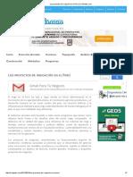Distintos Proyectos de irrigación en el Perú