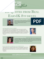 101 Quotes from Earn1K Students