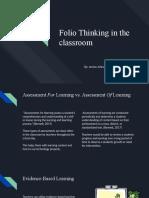 folio thinking in the classroom- etec 424