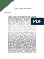 Ley de Simbolos Patrios - El Salvador