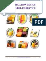 Fabrication des jus et naturel et des vins