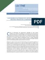 """Juan Paz y Miño, """"La economía ecuatoriana en el Bicentenario del inicio del proceso de la Independencia"""""""