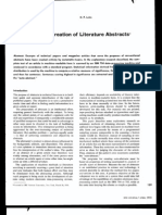 1958 - The Automatic Creation of Literature Abstracts