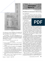 1964 - Problems in Automatic Abstracting
