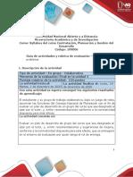 Guía de actividades y rúbrica de evaluación - Fase 4 - Evaluar un plan de desarrollo.docx.pdf