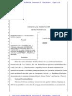 Order Denying Defendant's Motion to Dismiss Righthaven Copyright Infringement Lawsuit