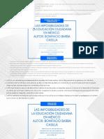 Las imposibilidades de la Educación Ciudadana en México.pdf