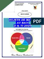 SUJETS DE PREPARATION MATHS BACC D & TI 2020