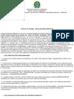 EDITAL POLICIA FEDERAL Nº 01 2020