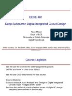 EE313 MOS Digital Integrated Circuit Design