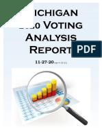 Michigan 2020 Voter Analysis Report