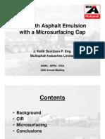 Davidson-CIRwithAsphal EmulsionwithaMicrosurfacingCap