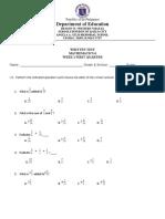 math 6 written test 1 and 2
