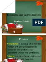 Discourse and Genre Analysis