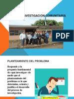 DISEÑO DE INVESTIGACION COMUNITARIA