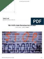 RA 11479_ Anti-Terrorism Act of 2020