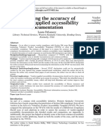 Assessing the accuracy of vendor-supplied accessibility documentation (2015)