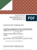 Aula 02 - Taxas de variação