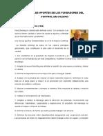 PRINCIPALES APORTES DE LOS FUNDADORES DEL CONTROL DE CALIDAD