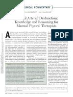 Cervical arterial dysfunction