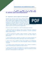 CONTROL Y CONTABILIZACION DE LOS ELEMENTOS DEL COSTO