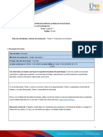 Activities guide and Evaluation rubric - Unit 3 -Task 5 - Communicative Production.en.es