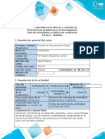 Guía de Actividades y Rúbrica de Evaluación - Tarea 4 - Análisis