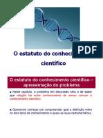 2-o estatuto do conhecimento científico