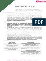 LINGÜÍSTICA - Resumen 1er parcial
