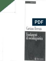 Gaetano Berruto - Fondamenti di Sociolinguistica