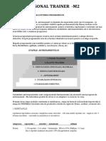 CURS M 2 PERSONAL TRAINER - ALCATUIREA PROGRAMULUI