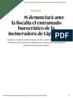Residuos _ GuraSOS denunciará ante la fiscalía el entramado burocrático de la incineradora de Gipuzkoa - El Salto - Edición General