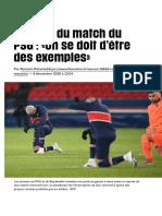 Reprise du match du PSG