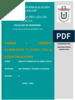 Tarea 1 - Cambio Climático y Cont. en La Construcción