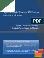 Aplicación de técnicas didácticas 2010