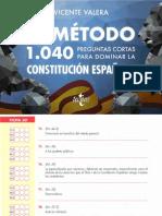 Extracto 4 EL MÉTODO 1040 PREGUNTAS CORTAS PARA DOMINAR LA CONSTITUCIÓN ESPAÑOLA