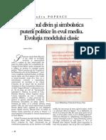 Suveranul divin Å_i simbolistica puterii politice în Evul Mediu. EvoluÅ£ia ...