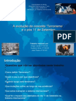 Apresentação- A evoluçãodo conceito de terrorismo pós 11 de setembro