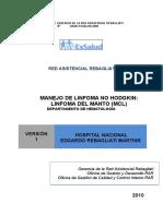 MANEJO DE LINFOMA NO HODGKIN LINFOMA DEL MANTO (MCL)